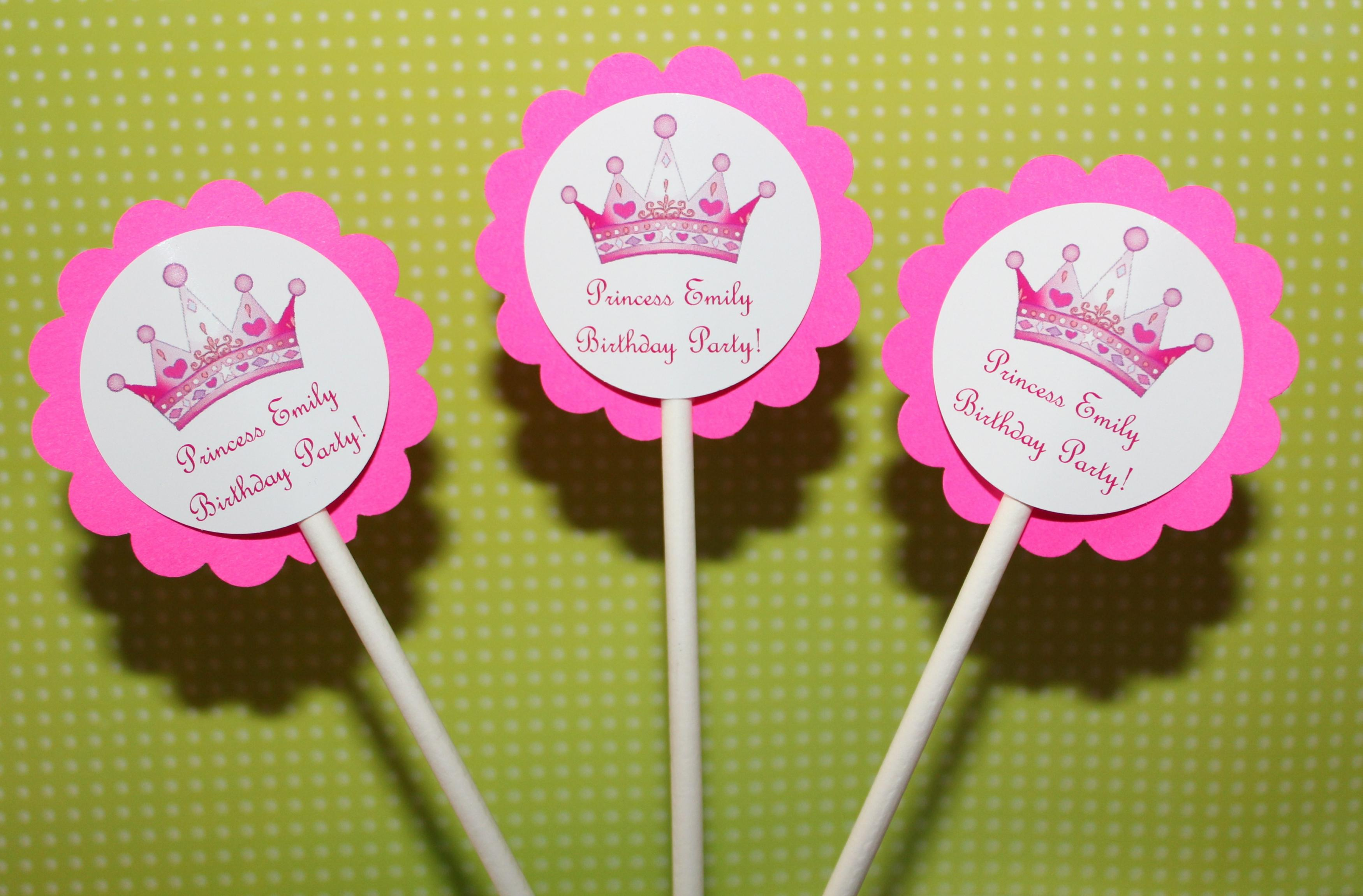 f2eb07cf61 PERSONALIZED Princess Crown Party Cupcake Party Toppers - Custom on Luulla